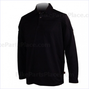 Jersey Polo Pony Long-Sleeve Black