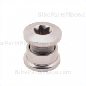 Chainring Bolt and Nut T-30 Silver